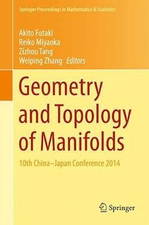 Geometry and Topology of Manifolds