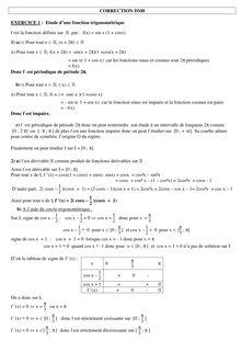 Correction sur les fonctions trigonométriques