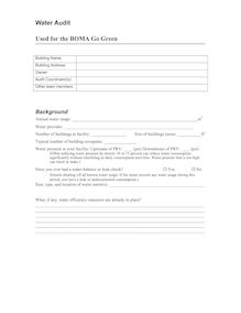 GG Water Audit Form 06-04