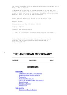The American Missionary — Volume 43, No. 04, April, 1889