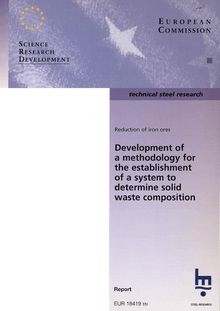 Development of a methodology for the establishment of a system to determine solid waste composition
