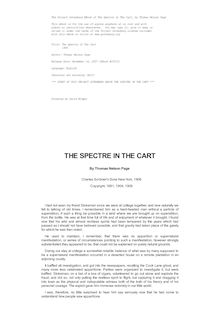 The Spectre In The Cart - 1908
