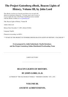 Beacon Lights of History, Volume 03 - Ancient Achievements