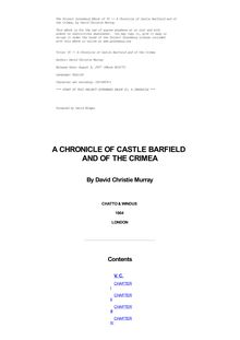 VC — A Chronicle of Castle Barfield and of the Crimea