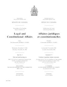 Legal and Constitutional Affairs Affaires juridiques et ...