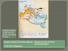 Présentation de l'Occident au Moyen-âge - histoire 5eme