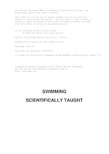 Swimming Scientifically Taught - A Practical Manual for Young and Old