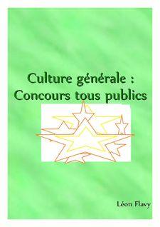 Dissertation de culture générale concours***** - leon flavy
