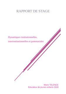 EJE : DC4 - Dynamiques institutionnelles et partenariales