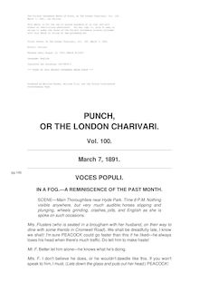 Punch, or the London Charivari, Volume 100, March 7, 1891