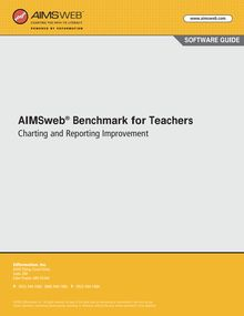 AIMSweb Benchmark for Benchmark Teachers