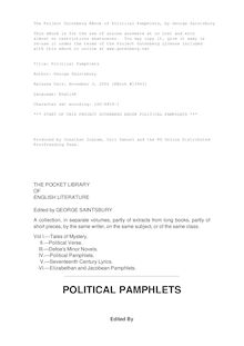 Political Pamphlets