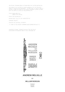 Andrew Melville - Famous Scots Series