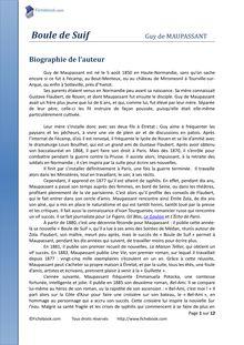 Dissertation explicative sur boule de suif