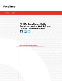 FINRA: Compliance Guide Social Networks, Web 2.0 and Unified ...
