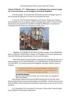 Magellan et le Nouveau Monde - helene benoit