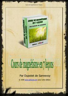 Cours de magnétisme en 7 leçons - Cordier Pierre - Vie ...