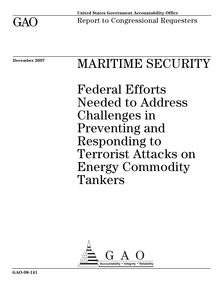 Gao 08 141 maritime security  federal efforts needed to address