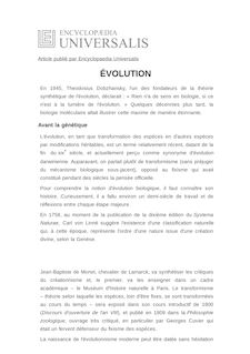 Définition de : ÉVOLUTION - Hervé LE GUYADER