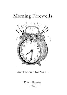 "Partition complète, Morning Farewells, An ""Encore"" for SATB"