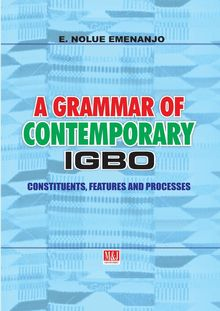A Grammar of Contemporary Igbo