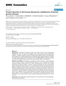 Protein disorder in the human diseasome: unfoldomics of human genetic diseases