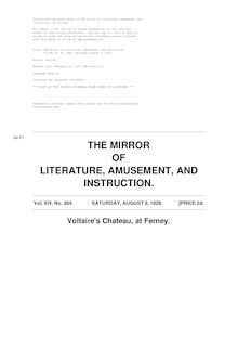 The Mirror of Literature, Amusement, and Instruction - Volume 14, No. 384, August 8, 1829
