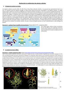 Biodiversité et amélioration des plantes cultivées