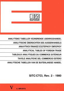 Analytical tables of foreign trade - SITC/CTCI, rev. 2, 1980, imports