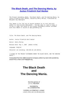 The Black Death - The Dancing Mania