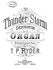 Partition complète, pour Thunder Storm, Descriptive: A Brilliant Concert Piece for the Organ