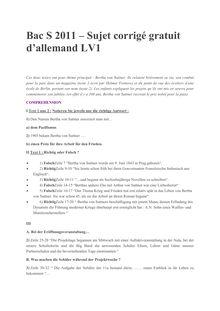 Bac 2011 S ES Allemand LV1 Corrige
