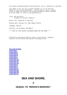 "Sea and Shore - A Sequel to ""Miriam"