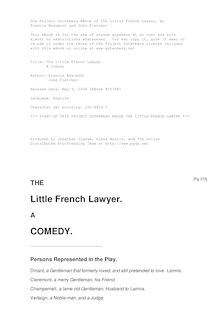 The Little French Lawyer - A Comedy