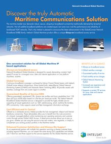 Discover the truly automatic maritime communications solution