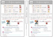 Grammaire CE1 – Les formes de phrases - Les leçons Forme négative 2