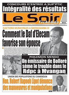 Le Soir Cameroun du 06-12-2019