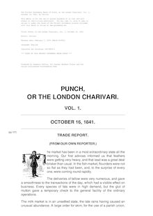 Punch, or the London Charivari, Volume 1, October 16, 1841