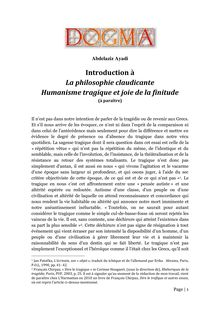 Introduction à la philosophie claudicante