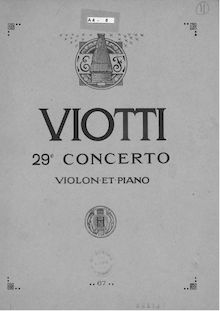 Partition de violon, violon Concerto No.29, E minor, Viotti, Giovanni Battista
