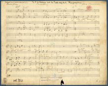 Partition No.1: Inconstancy (manuscript), 4 chœurs, Chadwick, George Whitefield