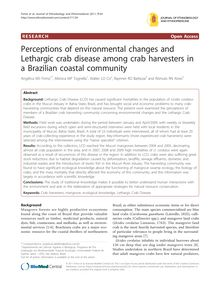 Perceptions of environmental changes and Lethargic crab disease among crab harvesters in a Brazilian coastal community