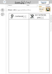 Phonologie CP – Période 2 - Les fiches d'exercices