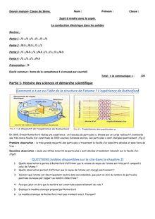 Devoir maison sur la conduction électrique dans les solides - physique-chimie 3e