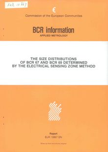 The size distributions of BCR 67 and BCR 69 determined by the electrical sensing zone method