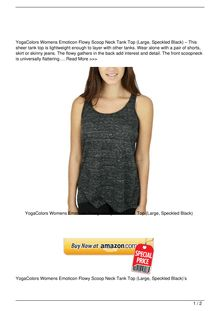 YogaColors Womens Emoticon Flowy Scoop Neck Tank Top Large Speckled Black Clothing Review
