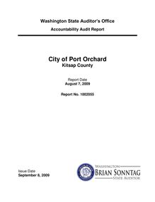 Audit report city of Port Orchard Kitsap County
