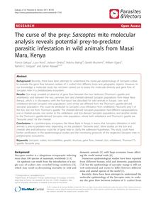 The curse of the prey: Sarcoptesmite molecular analysis reveals potential prey-to-predator parasitic infestation in wild animals from Masai Mara, Kenya