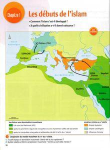 Chapitre sur les débuts de l'Islam - cours d'histoire pour les élèves de 5e