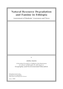 Natural Resource Degradation and Famine in Ethiopia [Elektronische Ressource] : Assessment of Students' Awareness and Views / Aklilu Dalelo
